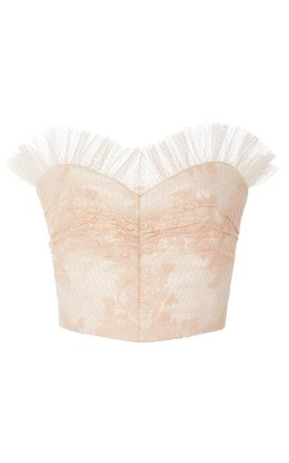Medium rodarte pink ruffled lace bustier top