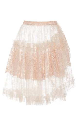 Medium rodarte pink metallic tulle wrap skirt
