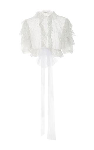 Medium rodarte white ruffled cropped blouse