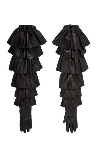 Medium rodarte black ruffle gloves