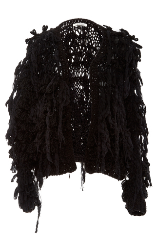 Medium rodarte black hand knit chunky cardigan