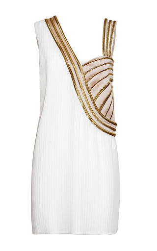 Medium genny white gold accent mini dress