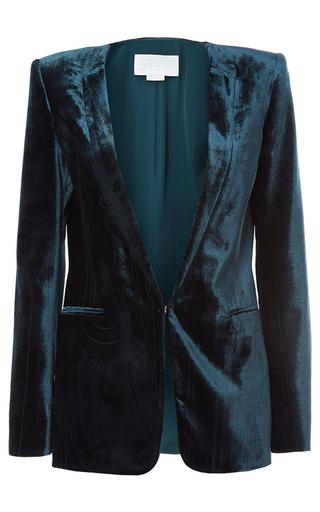 Medium genny blue velour blazer