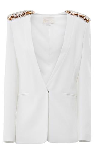 Medium genny white embellished shoulder blazer