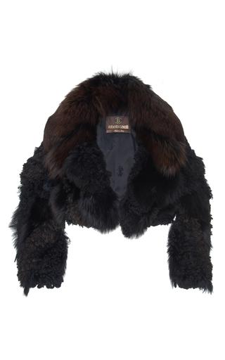 Medium roberto cavalli black cropped mink fur jacket