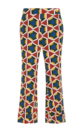 Medium parden s print pave flared trouser