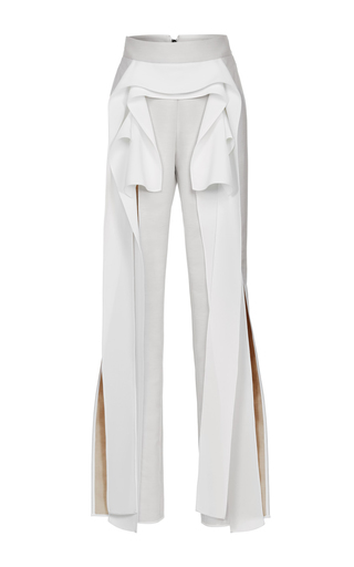 Medium maticevski white glass winged pant