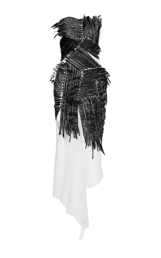 Medium maticevski black white diptera cocktail dress
