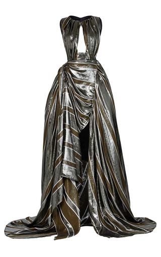 Medium maticevski stripe corrosion gown