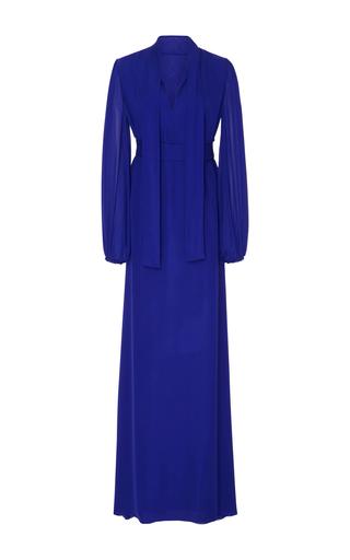 Medium by bonnie young purple long sleeve maxi dress