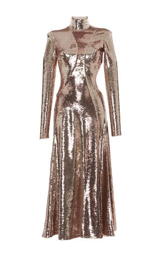 Medium emilio pucci gold pailette sequin maxi dress