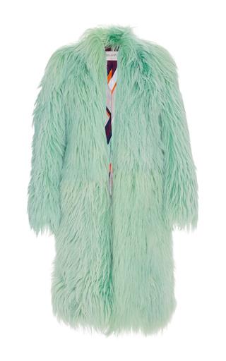 Medium emilio pucci green long pastel fur coat