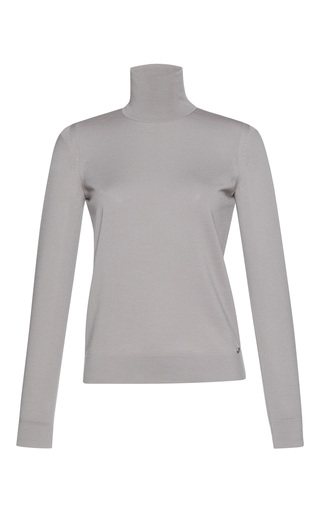 Medium salvatore ferragamo grey turtleneck knit top