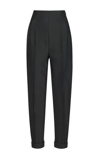 Medium salvatore ferragamo grey high waisted straight trousers