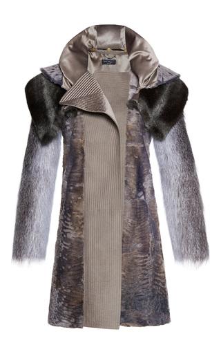 Medium salvatore ferragamo grey fur coat