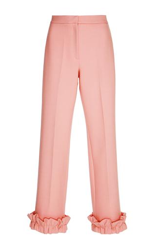 Medium vivetta pink palikir ruffle trim pant
