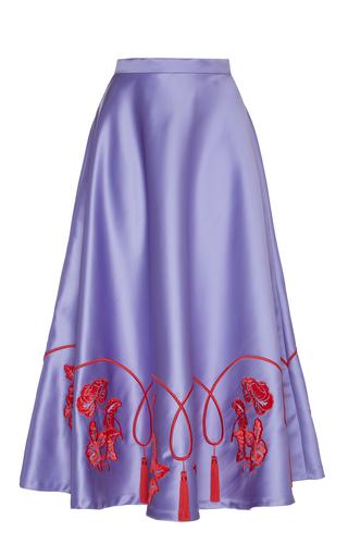 Medium vivetta purple palitana embroidered midi skirt