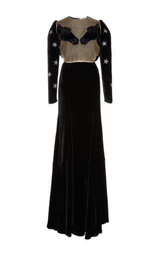 Medium vivetta black belgrado velvet gown