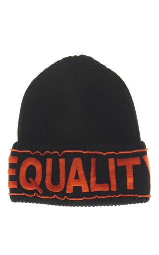 Medium versace black equality knit hat