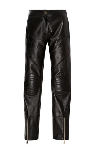 Medium versace black moto style leather pant