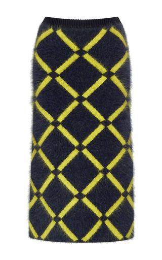 Medium versace multi check knit pencil skirt
