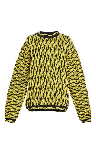Medium versace yellow wave hem pullover
