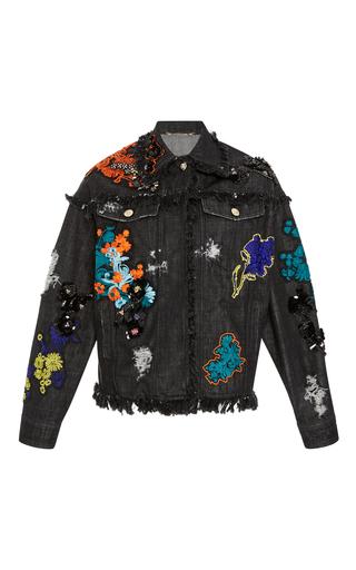 Medium versace multi embellished denim jacket