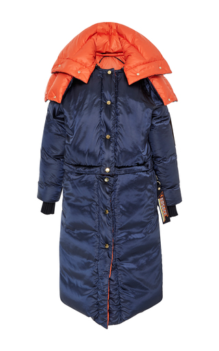 Medium versace navy hooded puffer coat
