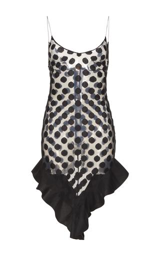 Medium francesco scognamiglio black polka dot slip dress