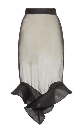 Medium francesco scognamiglio black ruffled high waist skirt