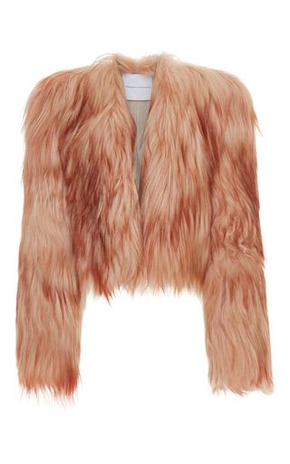 Medium francesco scognamiglio pink goat fur jacket 2