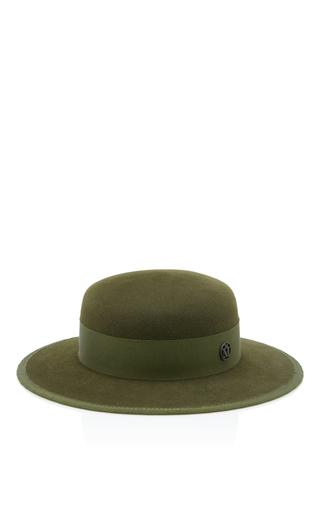 Medium maison michel green rod checked hat