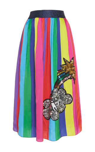 Medium mira mikati multi monster sequin rainbow skirt