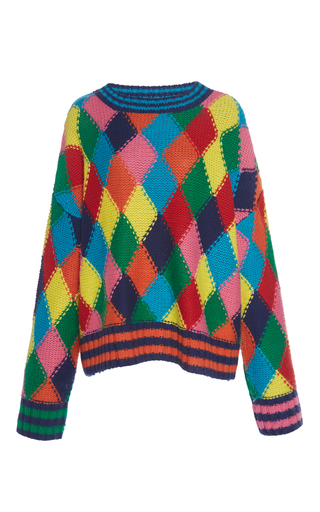Medium mira mikati multi diamond stitch hand knit
