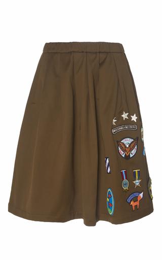 Medium mira mikati brown scout patch skirt