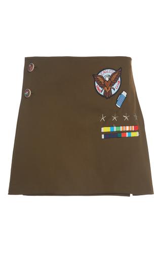 Medium mira mikati brown scout patch kilt skirt