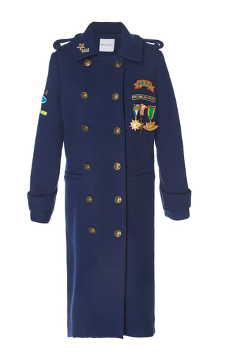 Medium mira mikati navy scout patch coat