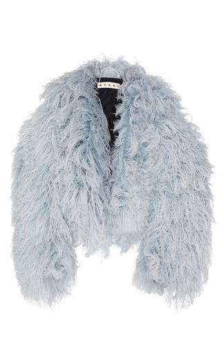 Medium marni blue goat fur jacket
