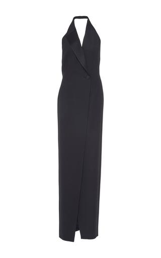 Medium pallas black black baccara halter lapel dress