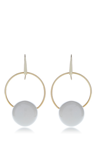 Medium marni white earrings with metal and circles 2