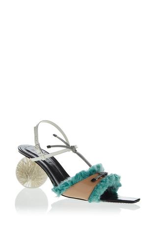 Medium marni pink fur trimmed sandal 5