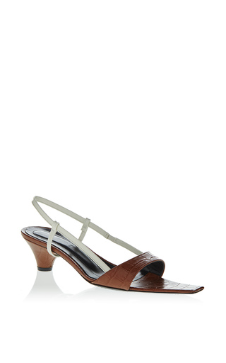 Medium marni brown croc embossed sandal 6