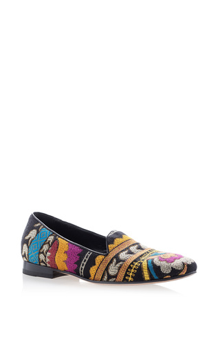 Medium etro multi embroidered loafer