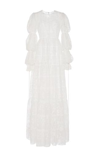Medium huishan zhang white odetta gown