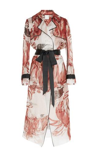 Medium huishan zhang print cassandra trench coat