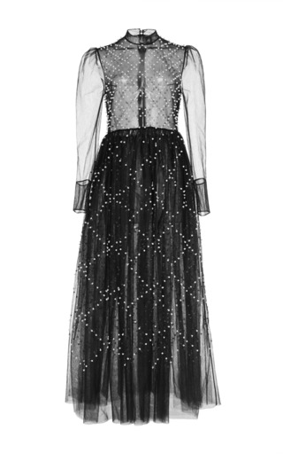 Medium huishan zhang black nicol gown