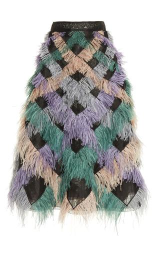 Medium huishan zhang multi faneta feather skirt