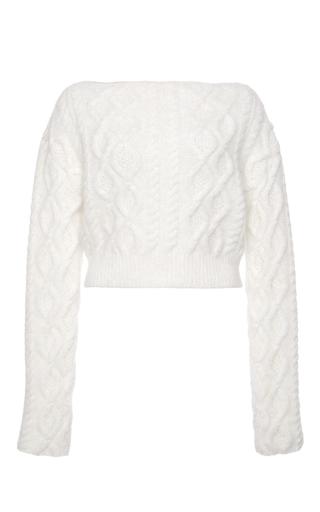 Medium lanvin white wool and angora sweater