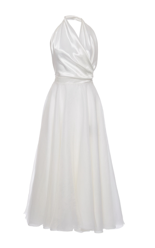 Medium lanvin white halter neck ballerina dress