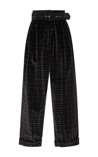 Medium isa arfen plaid tartan velvet belted trousers